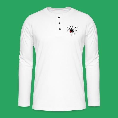 spider logo fantasy - Maglia a manica lunga Henley