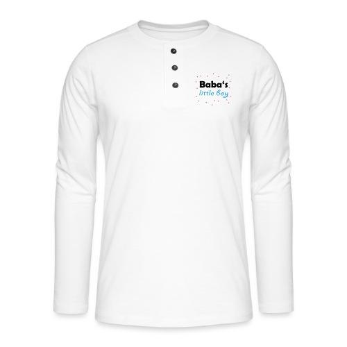 Baba's litte boy Babybody - Henley Langarmshirt
