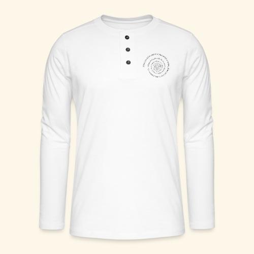 SPIRAL TEXT LOGO BLACK IMPRINT - Henley long-sleeved shirt