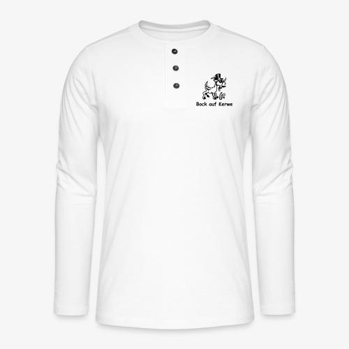 Bock auf Kerwe - Henley Langarmshirt
