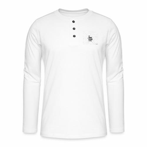 Mont Blanc et courbes de niveau - T-shirt manches longues Henley
