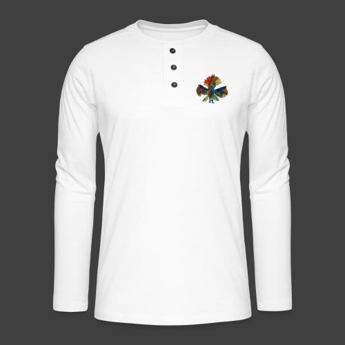Mayas bird - Henley long-sleeved shirt