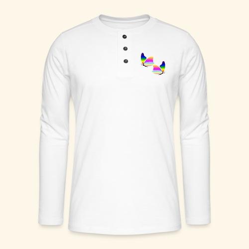 Rainbow Butterfly - Henley long-sleeved shirt