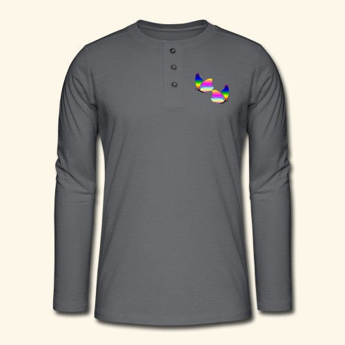 Rainbow Butterfly - Henley long-sleeved shirt