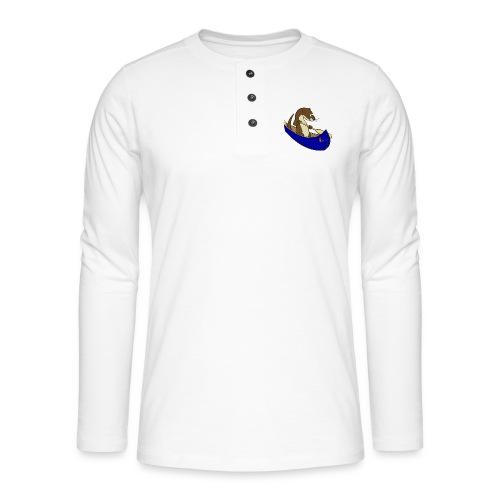 bluecanoewithsticker - Henley long-sleeved shirt