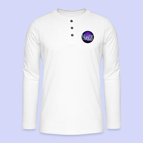 Galaxy shade, NuniDK collection - female top - Henley T-shirt med lange ærmer