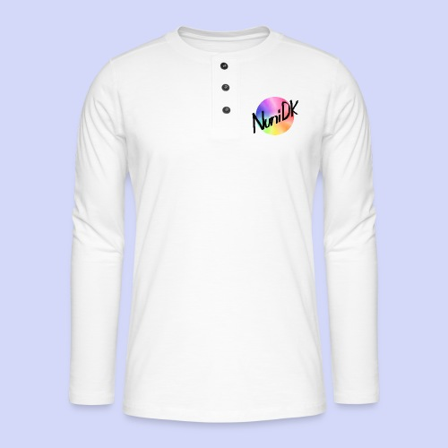 Rainbow shade, NuniDK Collection - Female top - Henley T-shirt med lange ærmer