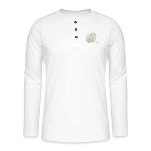 Vegan - Henley langermet T-skjorte