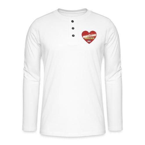 Musikk & Glede Hjertemotiv - Henley langermet T-skjorte