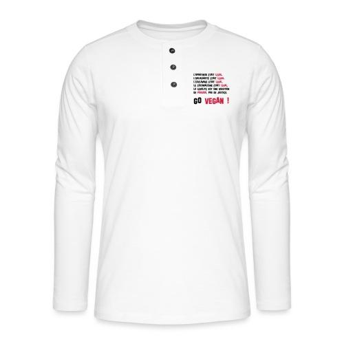 GO VEGAN - T-shirt manches longues Henley