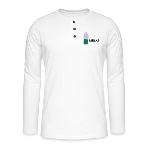 Grappige Rompertjes: Melk - Henley shirt met lange mouwen