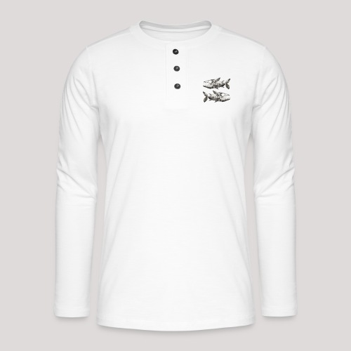 FishEtching - Henley long-sleeved shirt