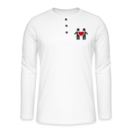 Chemise amour - T-shirt manches longues Henley