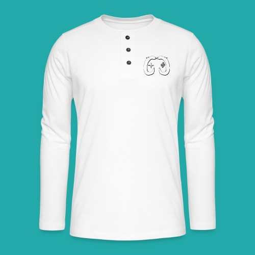 Crowd Control Logo - Henley long-sleeved shirt