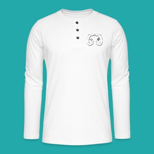 Crowd Control Logo - Henley long-sleeved shirt