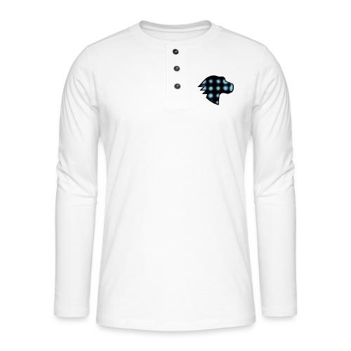 MDN Blue Gradient Dino - Henley long-sleeved shirt