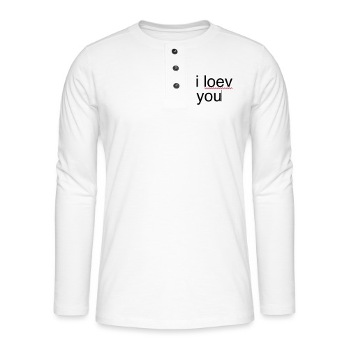 i love you error - T-shirt manches longues Henley