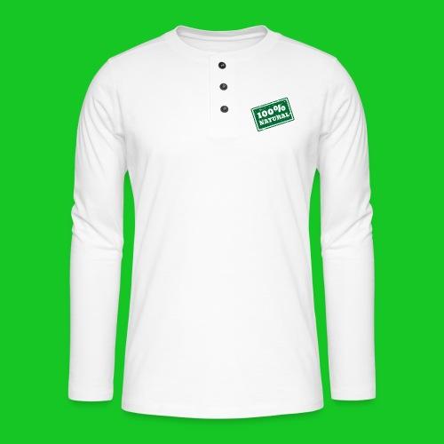 100% natural PNG - Henley shirt met lange mouwen