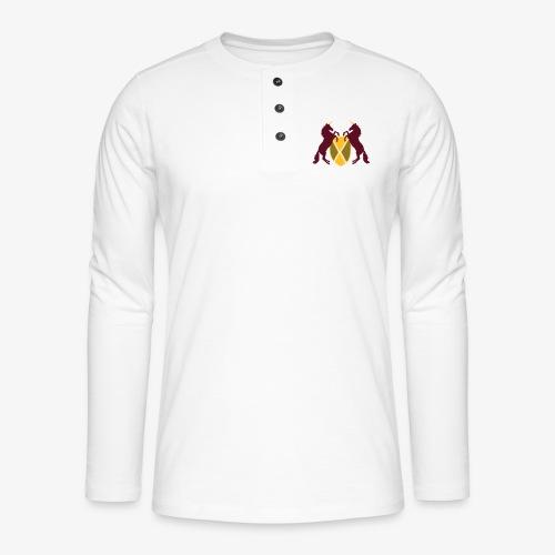 Unicorn Heraldry fantasy shield by patjila - Henley long-sleeved shirt