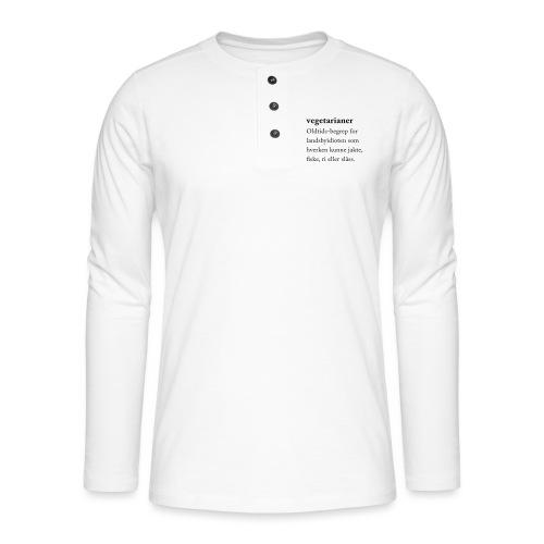 Vegetarianer definisjon - Henley langermet T-skjorte