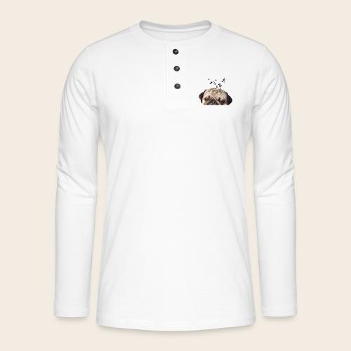 mops-schnarcht - Henley Langarmshirt