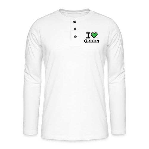 i-love-green-2.png - Maglia a manica lunga Henley