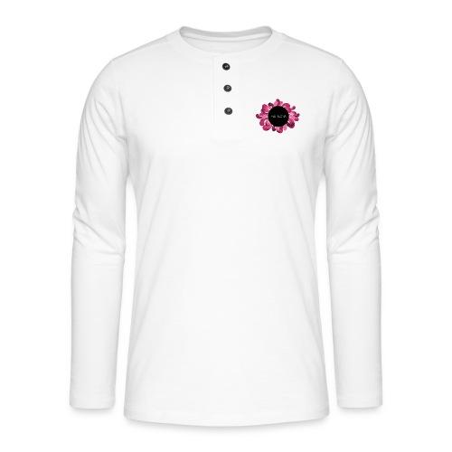 Naisten t-paita punaisella logolla - Henley pitkähihainen paita