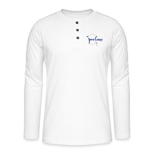 logo simplifié - T-shirt manches longues Henley