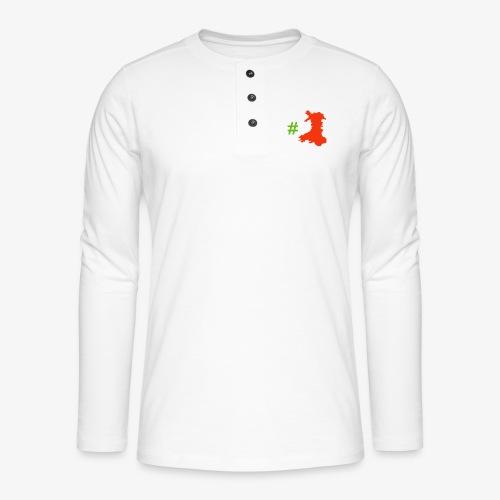 Hashtag Wales - Henley long-sleeved shirt