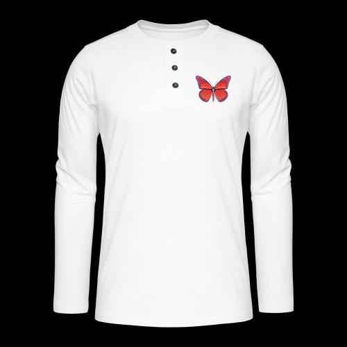 D28 monarch butterfly red lajarindream 4500px - Camiseta panadera de manga larga Henley