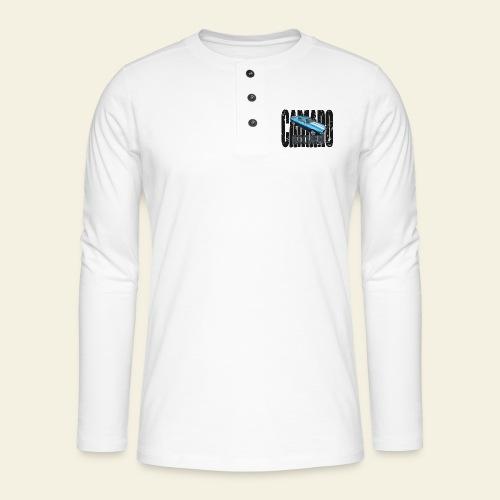 70 Camaro - Henley T-shirt med lange ærmer