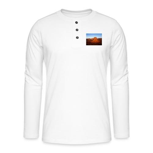 Desert - Camiseta panadera de manga larga Henley