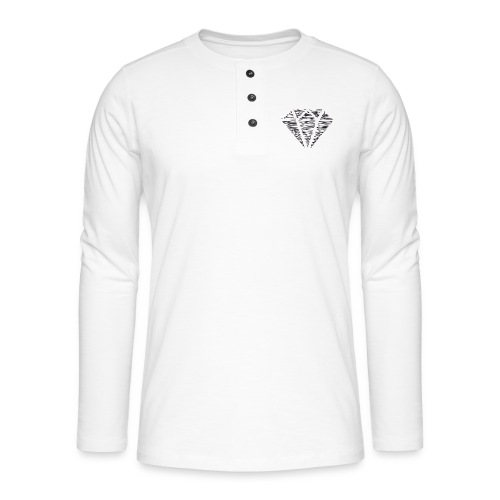 Diamante - Camiseta panadera de manga larga Henley