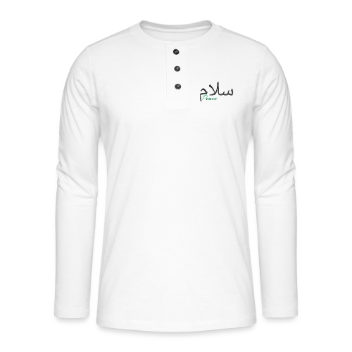 Arabic Salam text - Henley long-sleeved shirt