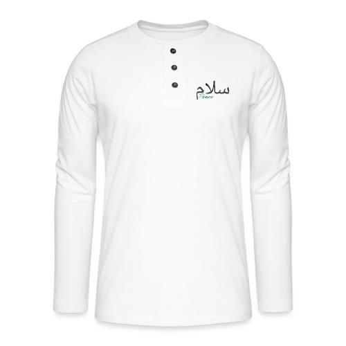 Arabic Salam text - Henley long-sleeved shirt