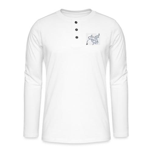 prm design taureau - T-shirt manches longues Henley