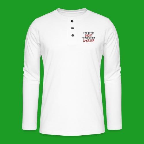 Vegan - T-shirt manches longues Henley