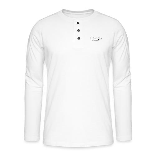 wheels up black figure - Henley long-sleeved shirt
