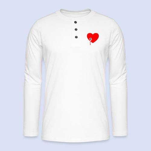 Cœur troué - T-shirt manches longues Henley