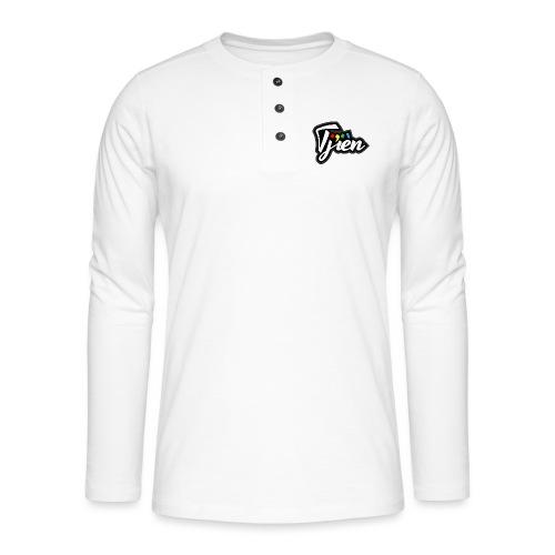 Tjien Logo Design - Henley shirt met lange mouwen