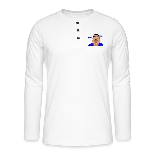cartoon awesome merch - Henley long-sleeved shirt