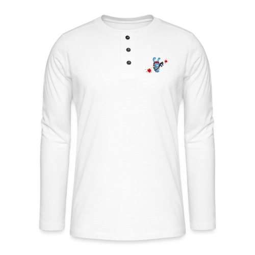 Lapin mitraillette - T-shirt manches longues Henley
