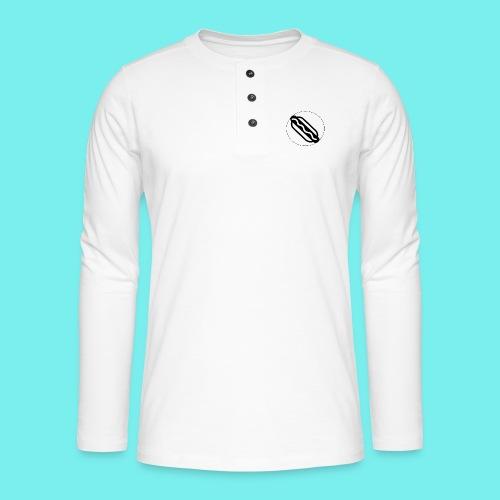 Hotdog logo - Henley T-shirt med lange ærmer