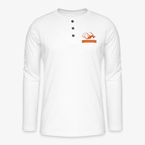Flip the table! - Henley langermet T-skjorte
