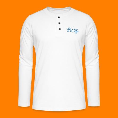 talk nerdy - Henley long-sleeved shirt
