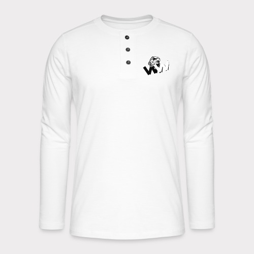 White and Black W with eagle - Henley long-sleeved shirt