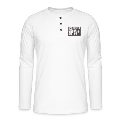 My Blood Type Is IPA + - Koszulka henley z długim rękawem