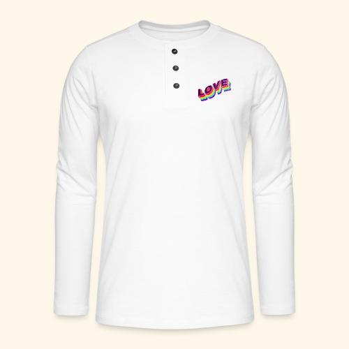 Typo Love Arc en Ciel LGBT - T-shirt manches longues Henley