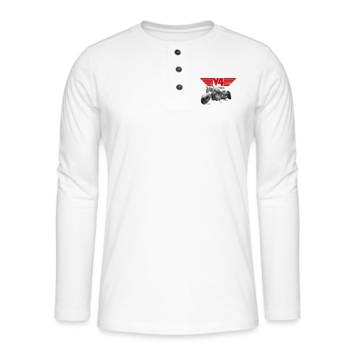 V4 Motorcycles red Wings - Henley Langarmshirt