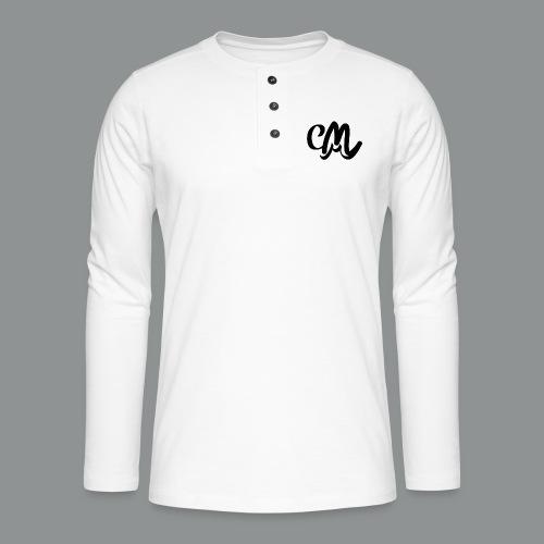 Mannen shirt (voorkant) - Henley shirt met lange mouwen